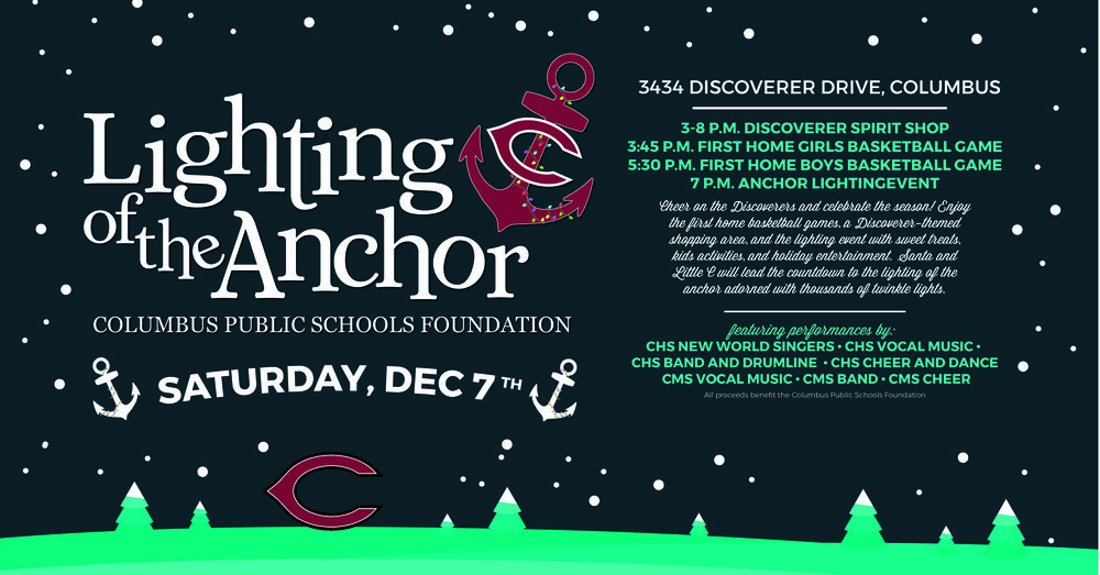 Join us tomorrow for the Lighting of the Anchor