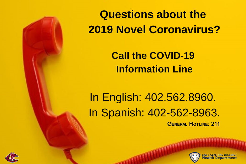 ECDHD now offering 3 hotlines to help answer questions regarding Novel Coronavirus.