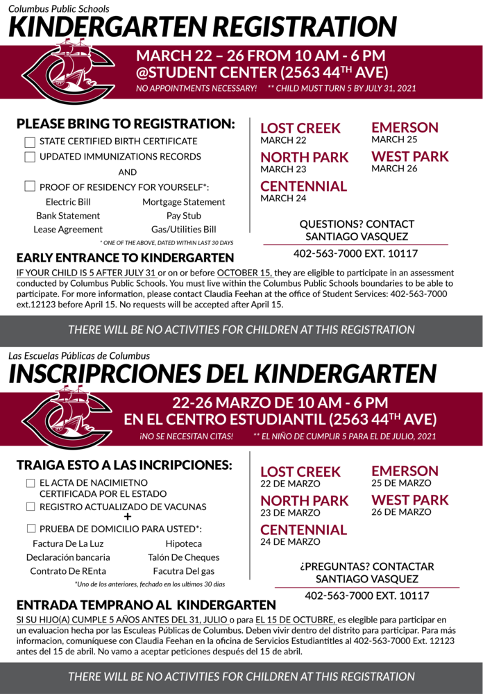 Kindergarten Registration Opens Soon!