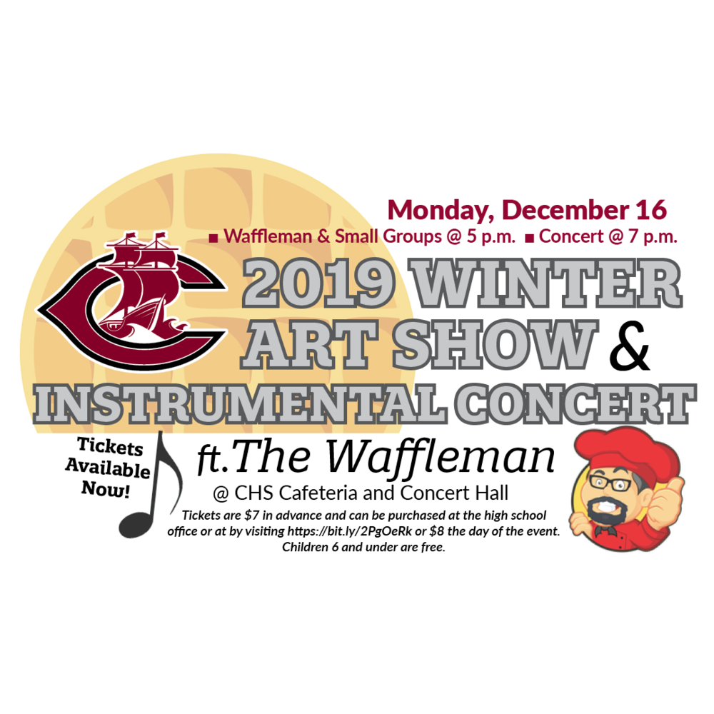 2019 Winter Art Show, Instrumental Choir ft. The Waffleman