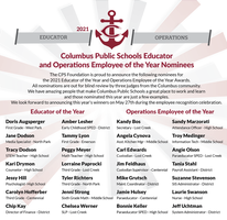 2021 Employee of the Year Nominees Announced
