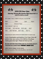 The CHS Cheer Clinic scheduled for February 8th!