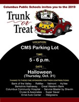 Trunk or Treat with us on Halloween!
