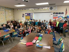 Kindergartners are the winners of the United Way Penny Drive