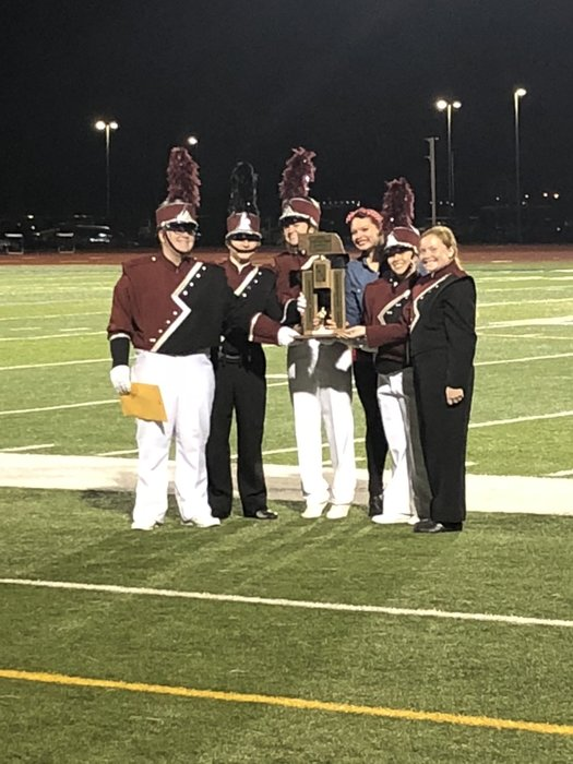 CHS Band with Superior Trophy