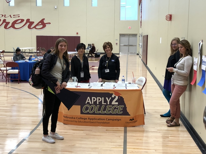 CHS school counselors connecting students with post secondary options.
