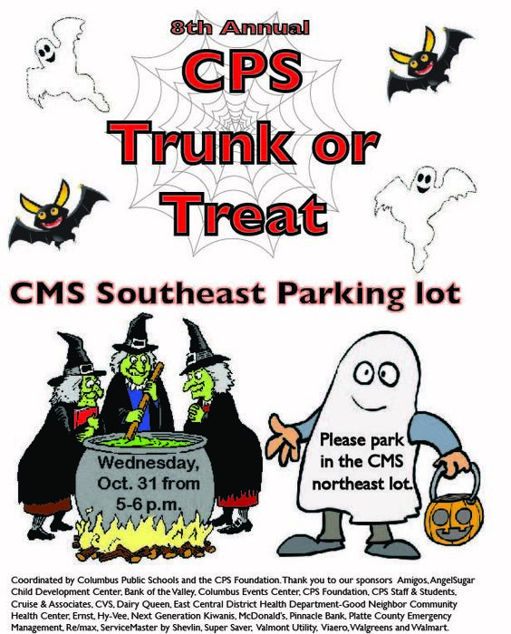 English Trunk or Treat Poster