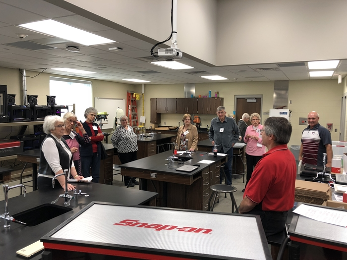Retired teacher group visit CHS