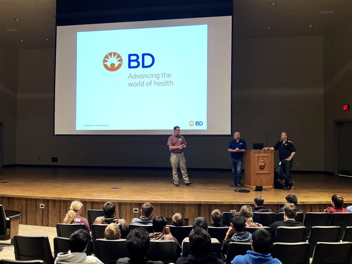 BD representatives share with students career opportunities in medical product manufacturing