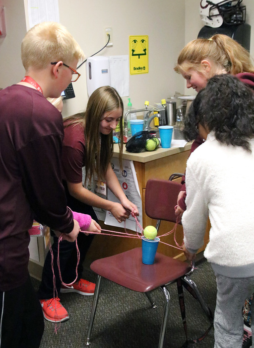 Students learned  teamwork through communication
