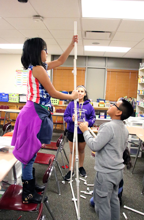 Students learned teamwork through working together