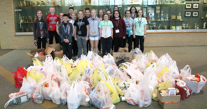 Food collect during CMS food drive