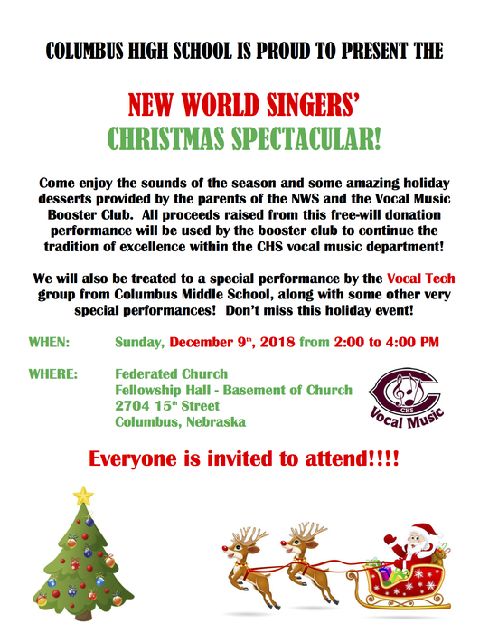 New World Singers Christmas Spectacular