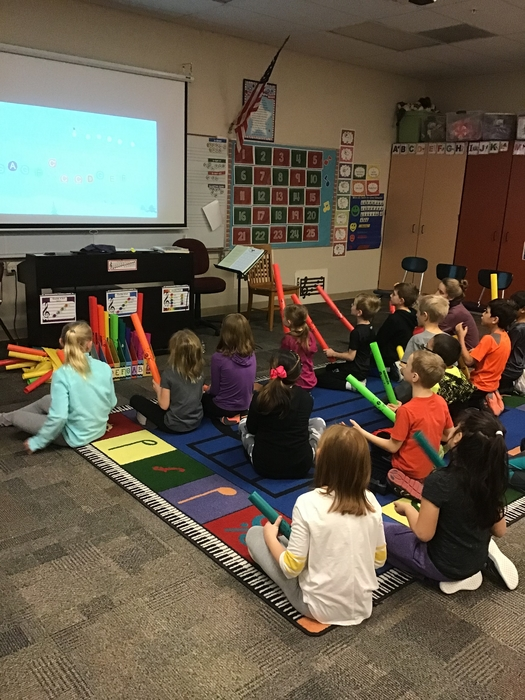 2nd grade had fun using boomwhackers in music class to play some holiday songs!