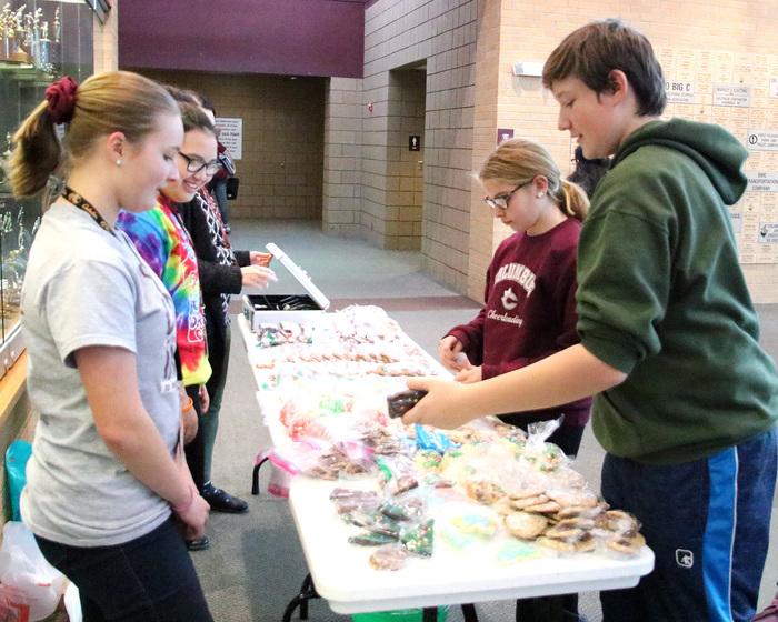 CMS Student Council selling baked items.