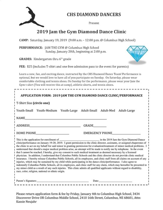 2019 Jam the Gym Diamond Dance Clinic