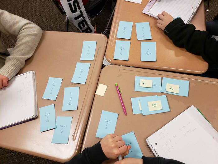 Sorting Equations - Math 7