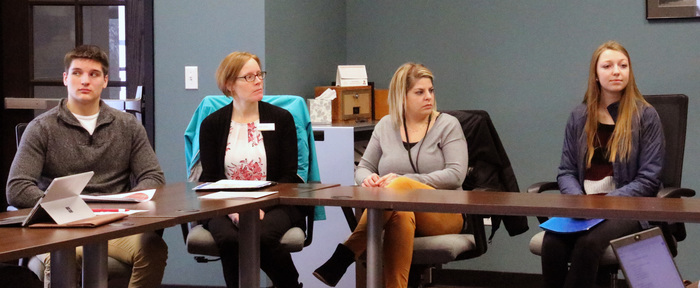 Sharing job shadow experiences with members of the Columbus Area Chamber of Commerce.