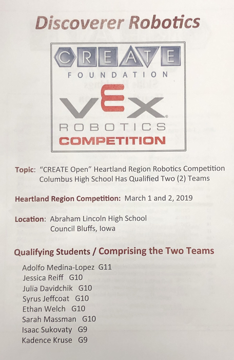 Robotics Competition Flier