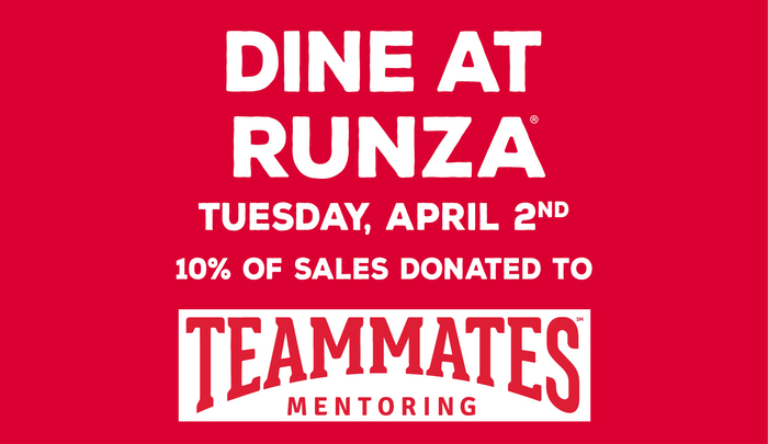 Proceeds from sales at Runza will go to TeamMates