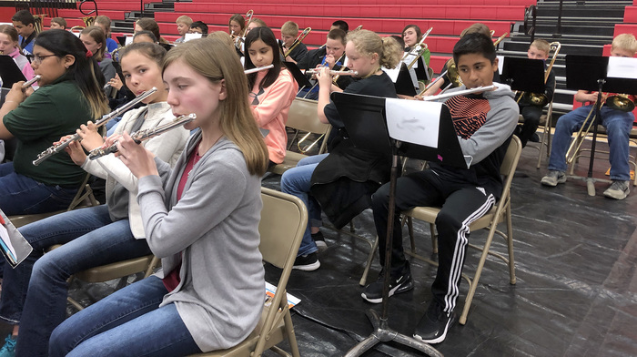CMS honor band students