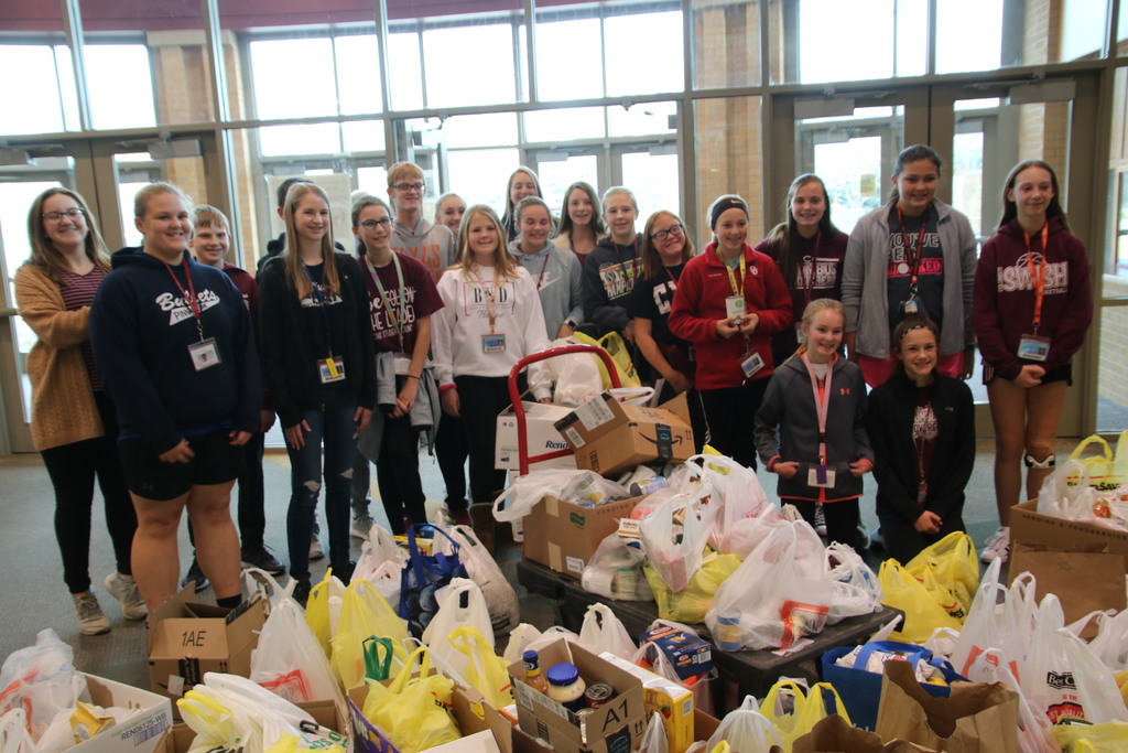 The Student Council hosted a Food Drive this week. The group collected just over 1,200 (!!!) items. Great work team and thank you to everyone who contributed!