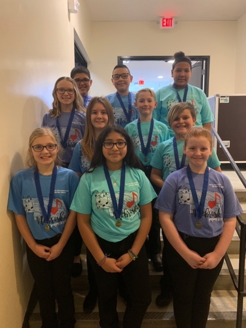 CMS Students who participated in All-State Children's Choir