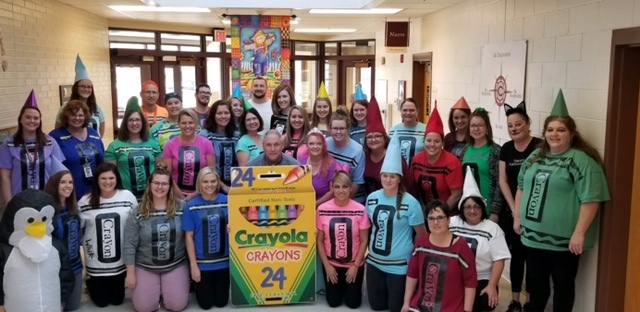 Lost Creek Staff Crayons for Halloween!