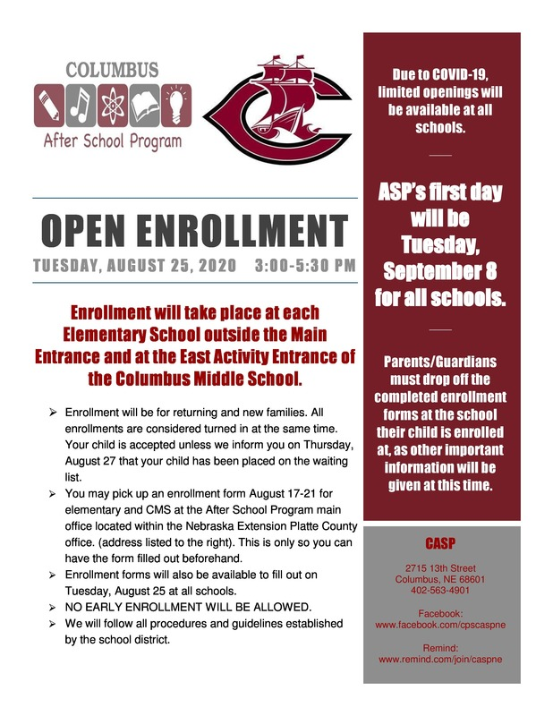 After School Program Enrollment Information