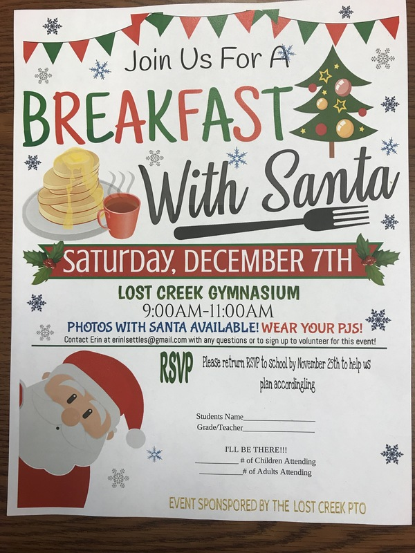 Lost Creek PTO Breakfast with Santa!